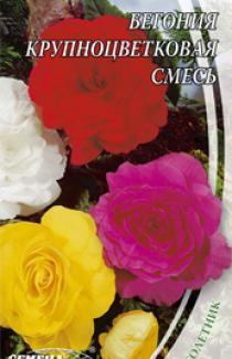Семена Бегония  Крупноцветковая  смесь 15 шт