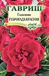Семена  Глоксиния Брокада красная F1 5шт (Гавриш)