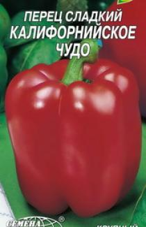 Семена перца сладкого Калифорнийское чудо красное 3г