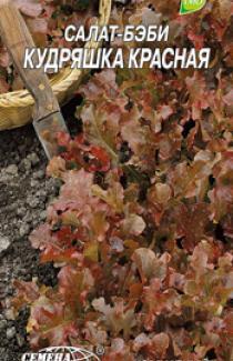Семена салата-бэби Кудряшка Красная 1г
