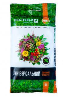 Торфяной субстрат PEATFIELD универсальный 6л