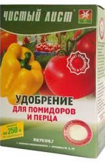 Удобрение для помидоров и перца Чистый лист 300г