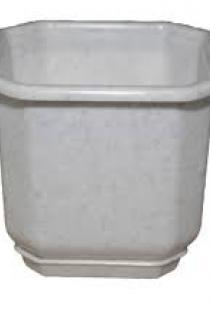 Горшок ДАМА (Д32*32) 16л с подставкой, белый, теракот