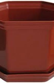 Горшок ДАМА (Д16*16) 2л с подставкой, белый, теракот
