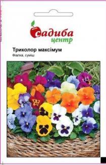 Семена виолы гибридная Триколор Максимум F2,смесь 0,05г