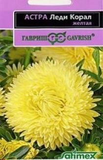 Семена Астры Леди Корал желтая (0,1г)