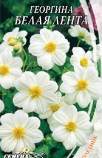 Семена Георгины Белая лента (0,3г)