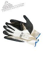Перчатки прорезиненые робочие Rnit Grey
