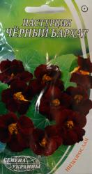 Семена Настурции низкорослой Черный бархат 1г