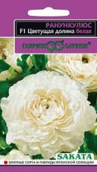 Семена  Ранункулюс  Цветущая  долина  белая  3шт