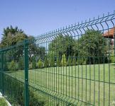 Секции заборной изгороди с изгибом, СТАНДАРТ ПВХ - ЗАГРАДА