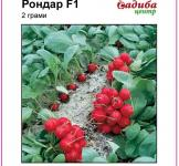 Семена редиса Рондар F1 2г (Syngenta Голландия)