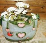 Декоративное кашпо «Сумка» (Сердечки)