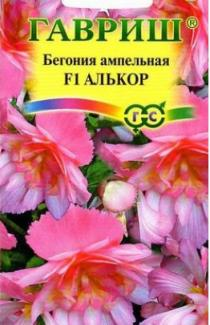 Насіння Бегонії Алькор F1 ампельної 4 шт.