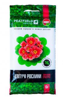Торфяний субстрат PEATFIELD для квітучих рослин 6л