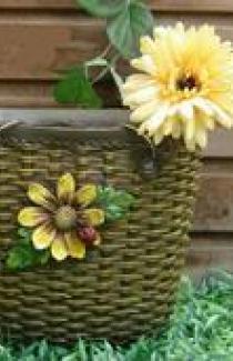 Садовая фигурка «Сумка плетеная»