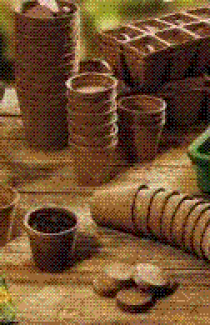 Торфяные горшочки для рассады 60*60