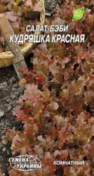 Насіння салата-бебі Кудряшка червона 1г